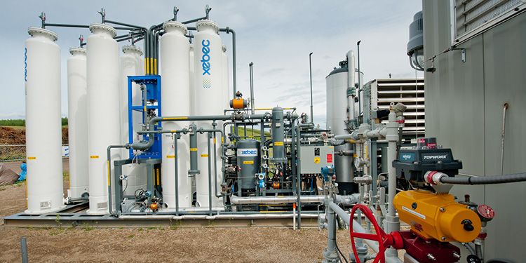 A overview image of Renewable Natural Gas upgrader equipment (18-150.6)