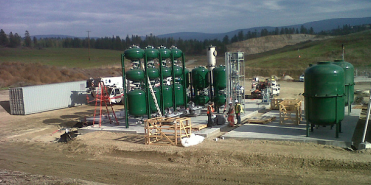An overview image of the Renewable Natural Gas facility at Glenmore Landfill (18-150.6)